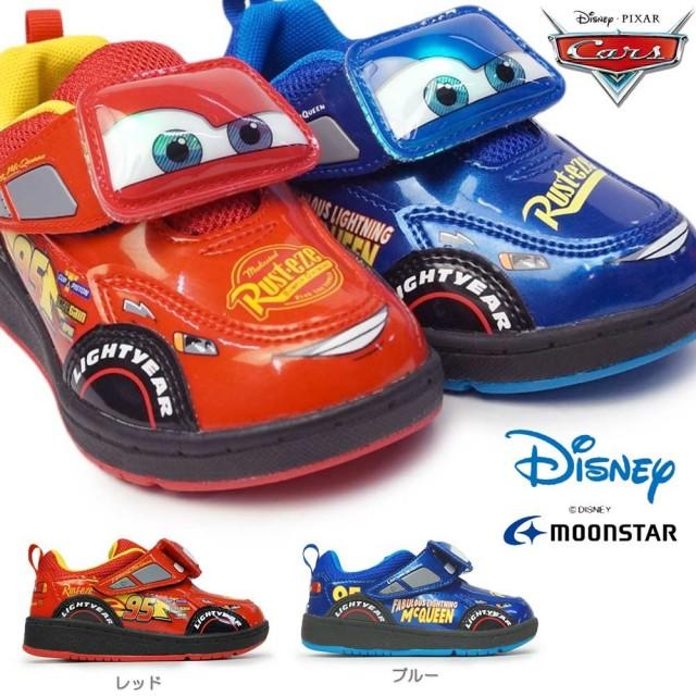 ディズニー カーズ DN C1262 子供スニーカー 光る靴 2WAY マジック式 キャラクター 映画カーズ キッズ用 Disney Cars