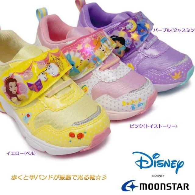 ディズニー 光る靴 DN C1273 マジック式 抗菌 防臭 ディズニー映画 アラジン 美女と野獣 トイストーリー 子供スニーカー ムーンスター Disney MoonStar