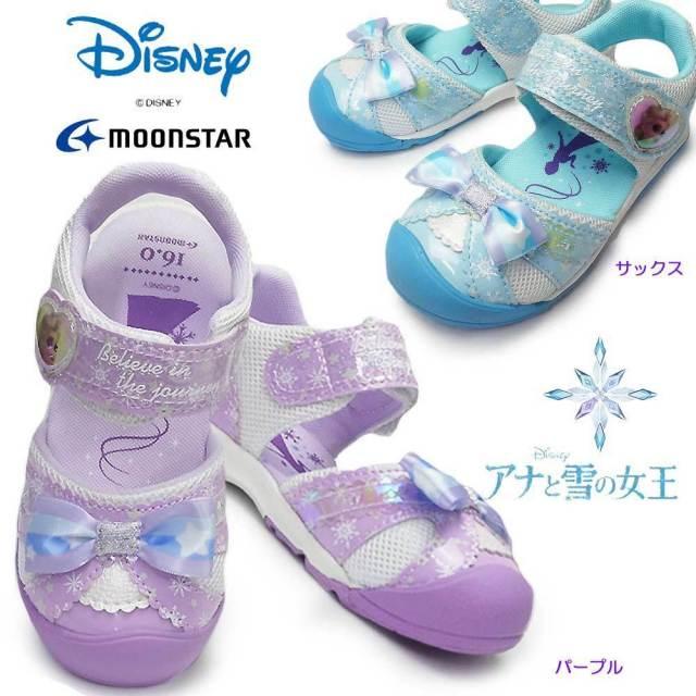 ディズニー プリンセス 靴 DN C1278 アナと雪の女王2 サンダル マジック式 ディズニー映画 子供スニーカー ムーンスター Disney PRINCESS MoonStar