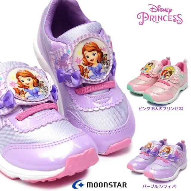 ディズニー プリンセス DN C1287 子供スニーカー マジック式 ディズニー映画 お姫様 ムーンスター Disney PRINCESS Moon Star