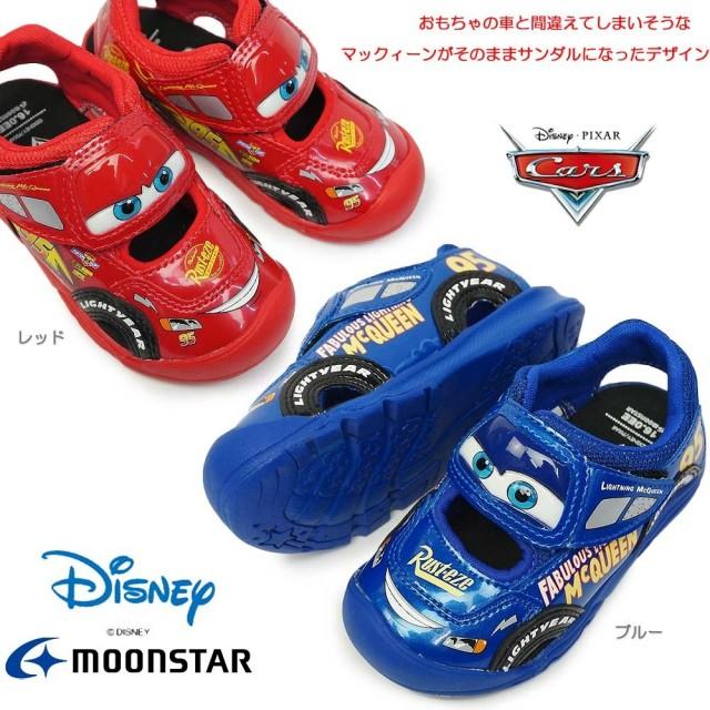 ディズニー カーズ 靴 DN C1255 子供サンダル マジック式 キャラクター 映画カーズ Disney Cars Moon Star