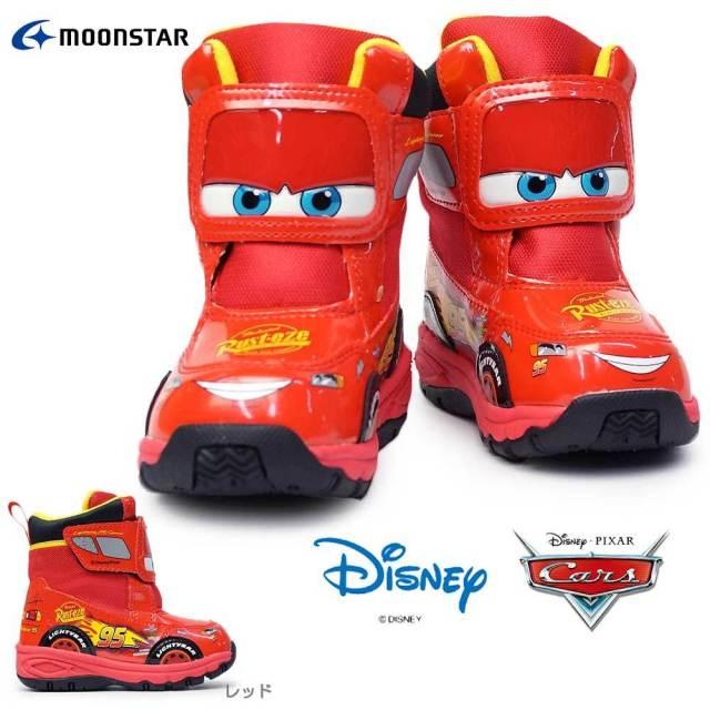 ディズニー ブーツ キッズ カーズ WC033E 子供ブーツ マジック式 防水仕樣 防寒 防滑 雪国寒冷地仕様 ムーンスター Disney Cars MoonStar