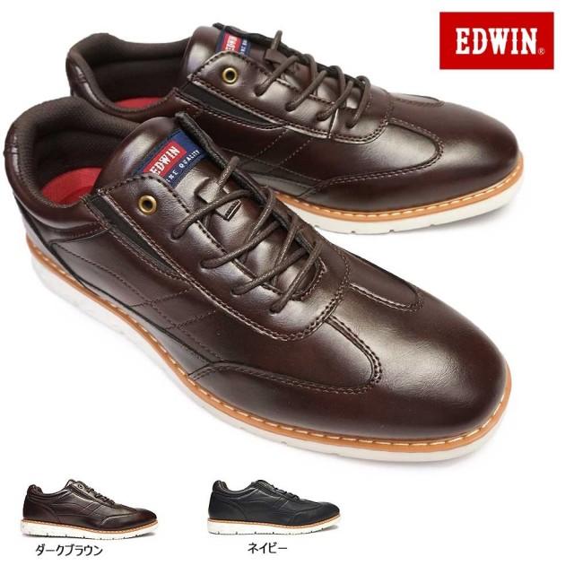 エドウィン カジュアルシューズ EDM-846 メンズ 軽量 シンプル ローカット EDWIN