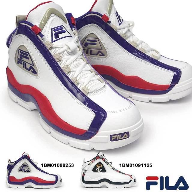 フィラ スニーカー メンズ グラント ヒル 2 1BM01088 グラント ヒル 2 パッチワーク 1BM01091 レザー ハイカット バスケット NBA シグネチャーモデル ホワイト FILA GRANT HILL 2 GRANT HILL 2 PATCHWORK