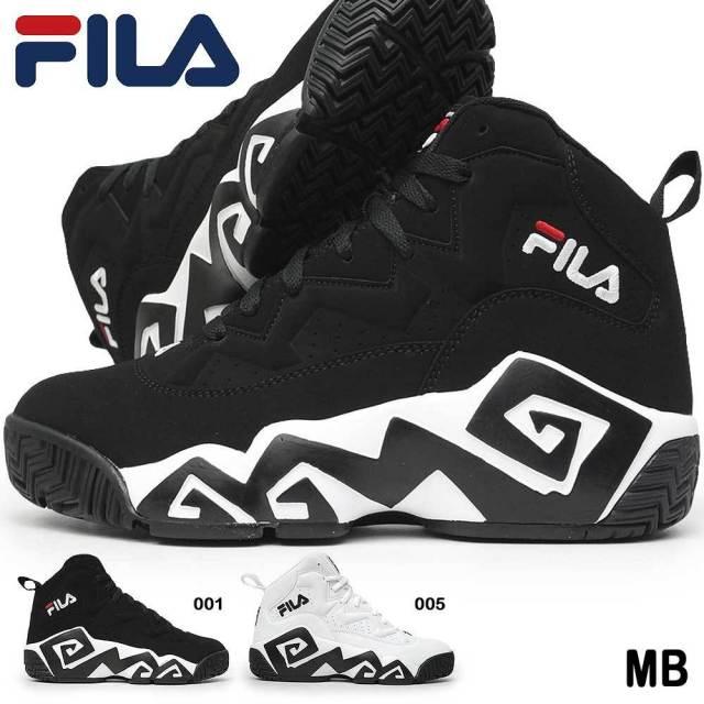 フィラ スニーカー FHE102 MB メンズ レディース NBA グラフィック ハイカット ユニセックス ペア お揃い バスケット シグネチャーモデル 入れ墨 デイリーユース FILA MB 503588176 503588175
