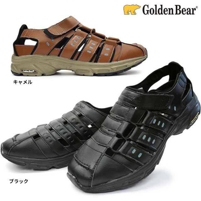 ゴールデンベア GB111 メンズサンダル 事務所履き アウトドア Golden Bear GB-111 BLACK CAMEL