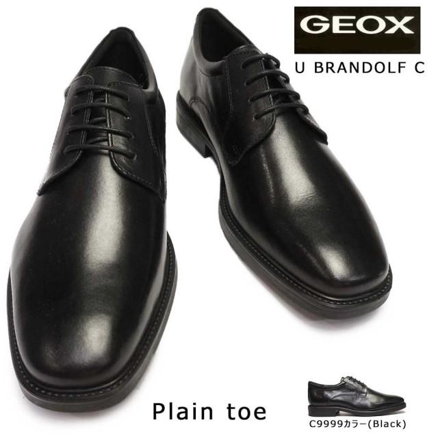 ジェオックス ビジネスシューズ U844VC プレーントゥ 蒸れない レザー メンズ フォーマル 通気靴 GEOX U BRANDOLF C C9999