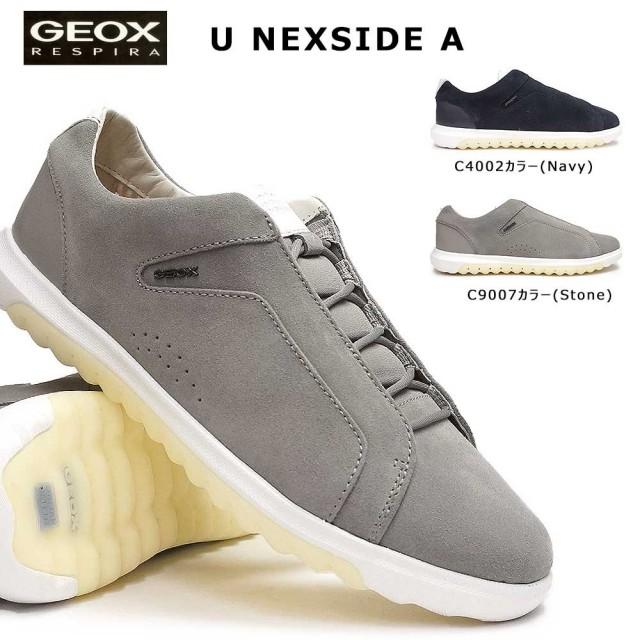 ジェオックス 靴 スニーカー レザー U927GA カジュアルシューズ コンフォート メンズ 蒸れない スエード GEOX U NEXSIDE A C4002 C9007