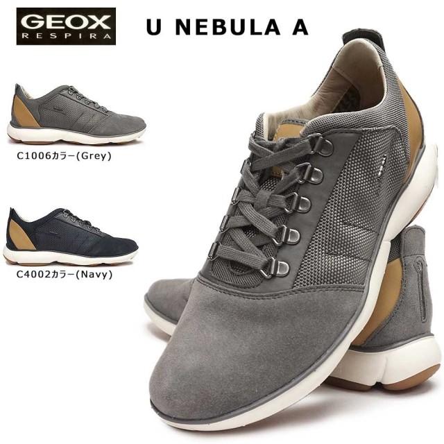 ジェオックス 靴 スニーカー レザー U92D7A カジュアルシューズ コンフォート メンズ 蒸れない GEOX U NEBULA A C1006 C4002
