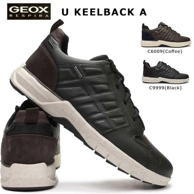 ジェオックス 靴 スニーカー レザー U947PA カジュアルシューズ コンフォート ウォーキング メンズ 幅広 蒸れない GEOX KELLBACK B