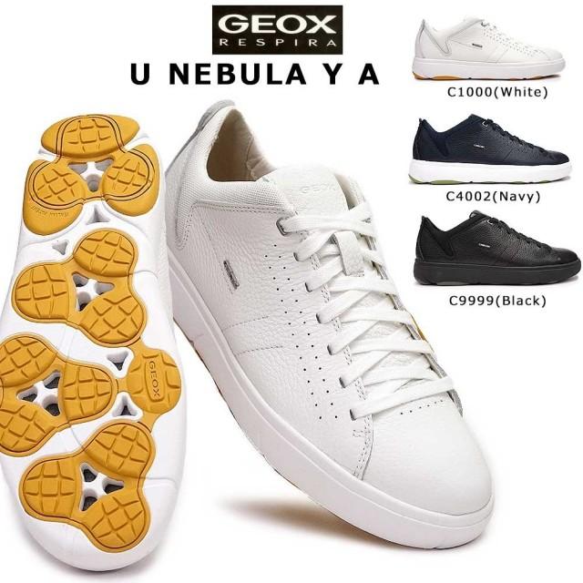 ジェオックス 靴 スニーカー レザー U948FA カジュアルシューズ コンフォート メンズ 白スニ 蒸れない GEOX U NEBULA Y A