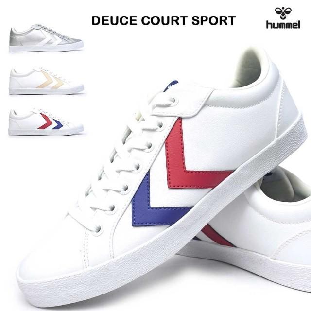 ヒュンメル スニーカー HM204506 デュースコートスポーツ ユニセックス メンズ レディース クラシック テニス シンプル 北欧 クリーン Hummel DEUCE COURT SPORT HM204506 1508 8258 9001