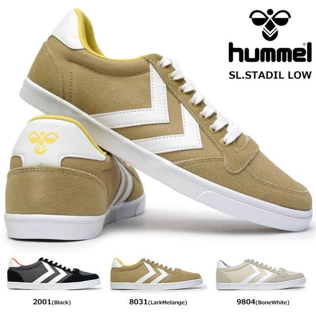 ヒュンメル スニーカー ローカット スリマースタディール ロー 208967 メンズ レディース クラシック Hummel SLIMMER STADIL LOW