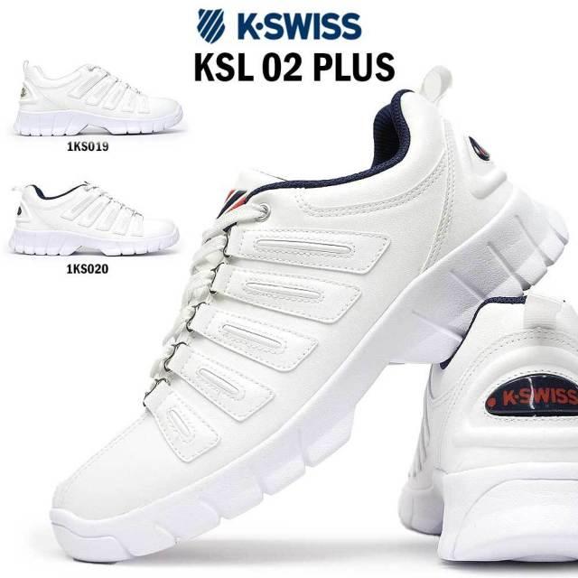 ケースイス メンズ スニーカー KSL 02 プラス レディース 復刻アレンジモデル チャンキー K・SWISS KSL 02 PLUS 36100300 36100301