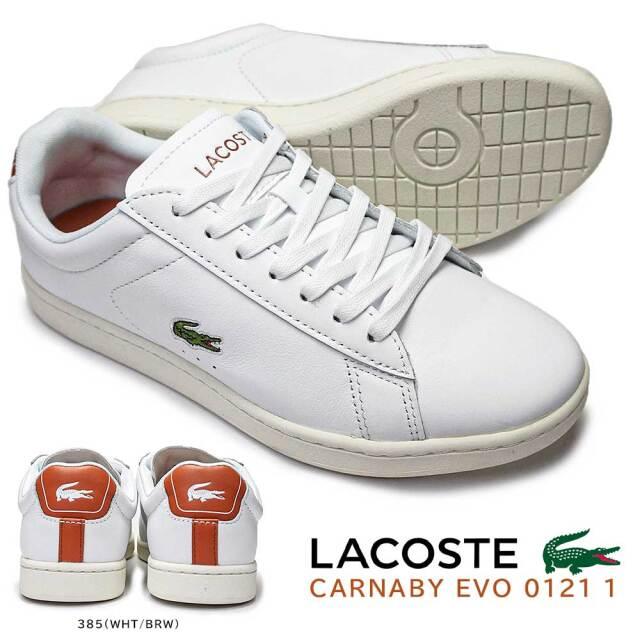 ラコステ スニーカー レディース レザー SF00162 カーナビー エボ 0121 1 コートスタイル シンプル LACOSTE CARNABY EVO 0121 1
