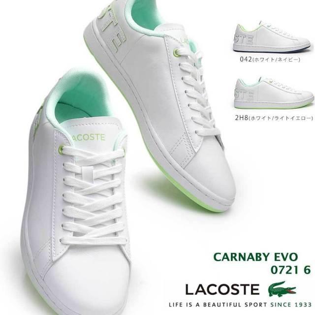 ラコステ スニーカー レディース SF01151 カーナビー エボ 0721 6 レザー 本革 テニス LACOSTE CARNABY EVO 0721 6