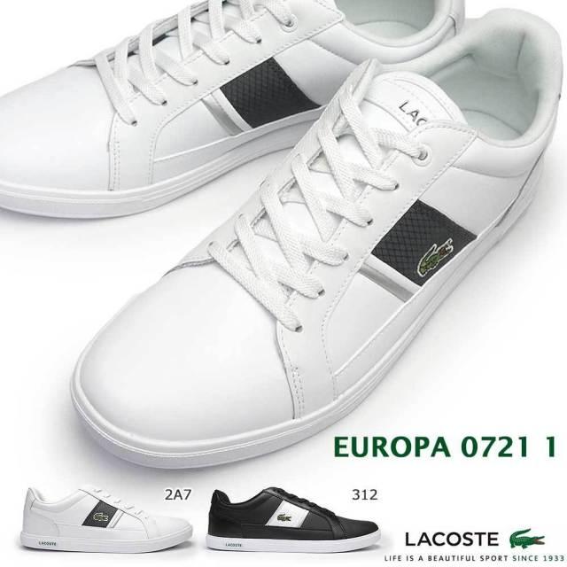 ラコステ スニーカー メンズ ヨーロッパ 0721 1 SM00081 コートスタイル オーソライト 防臭 LACOSTE EUROPA 0721 1