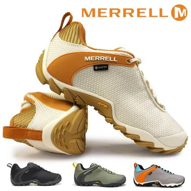 メレル シューズ メンズ カメレオン8 ストーム ゴアテックス 全天候型 防水 ハイキングシューズ ローカット MERRELL CHAMELEON8 STORM GORE-TEX