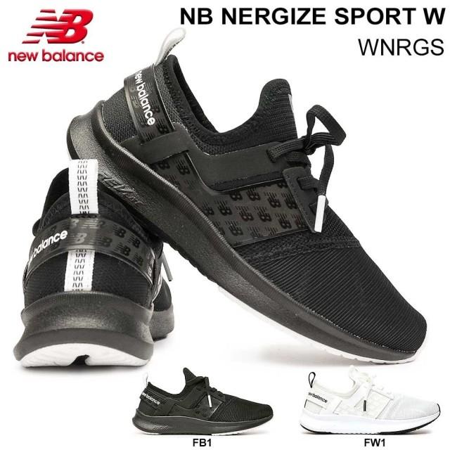 ニューバランス レディース スニーカー WNRGS スリッポン トレーニング 軽量 D幅 new balance NB NERGIZE SPORT W エヌビー ナージャイズ スポーツ