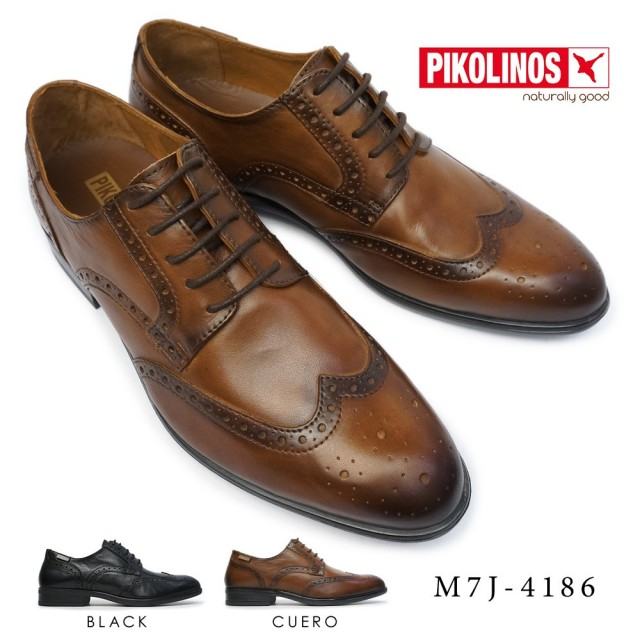 ピコリノス 靴 メンズ M7J-4186 ウイングチップ PK-337 本革 ビジネスシューズ PIKOLINOS BRISTOL M7J