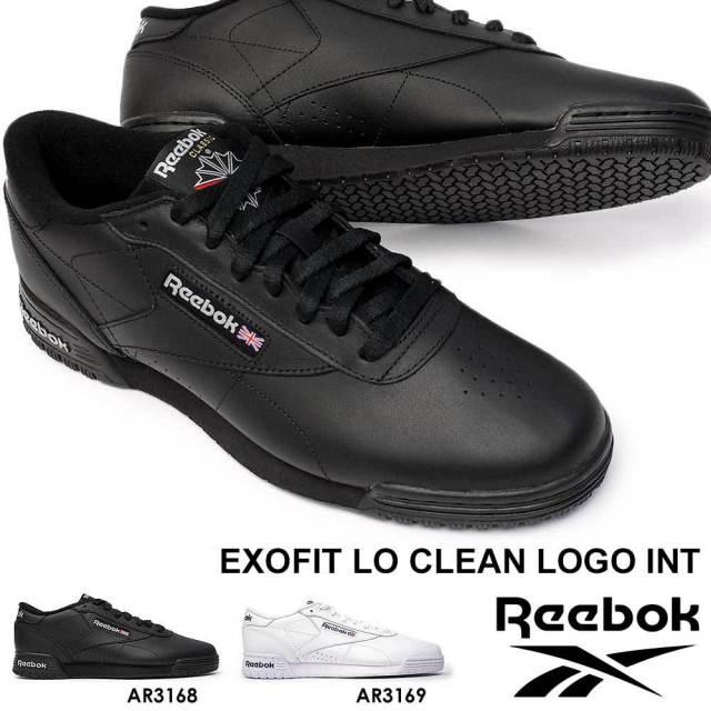 リーボック スニーカー エックスオーフィット ロー クリーン ロゴ INT クラシック メンズ レディース レザー モノトーン Reebok EXOFIT LO CLEAN LOGO INT CLASSIC 本革