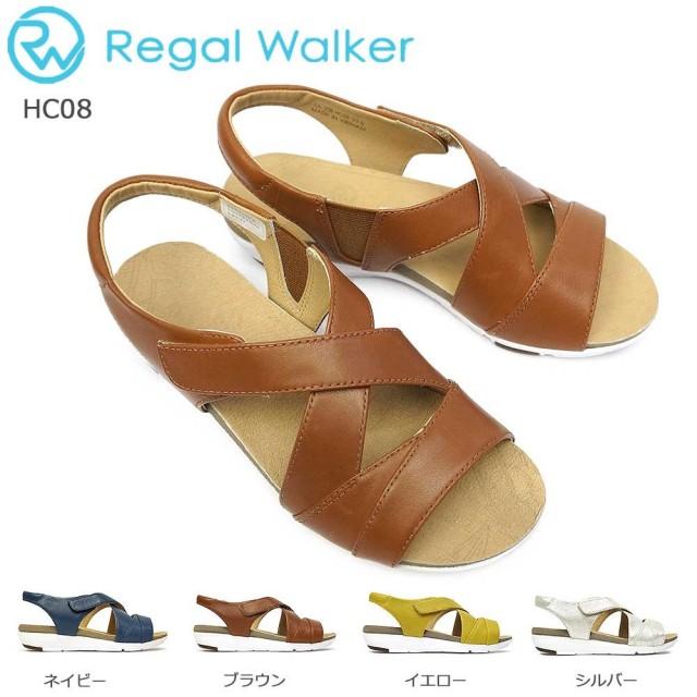 リーガル サンダル レディース HC08 レザー クロスベルト ウォーカー カジュアル 本革 REGAL Walker サンダル