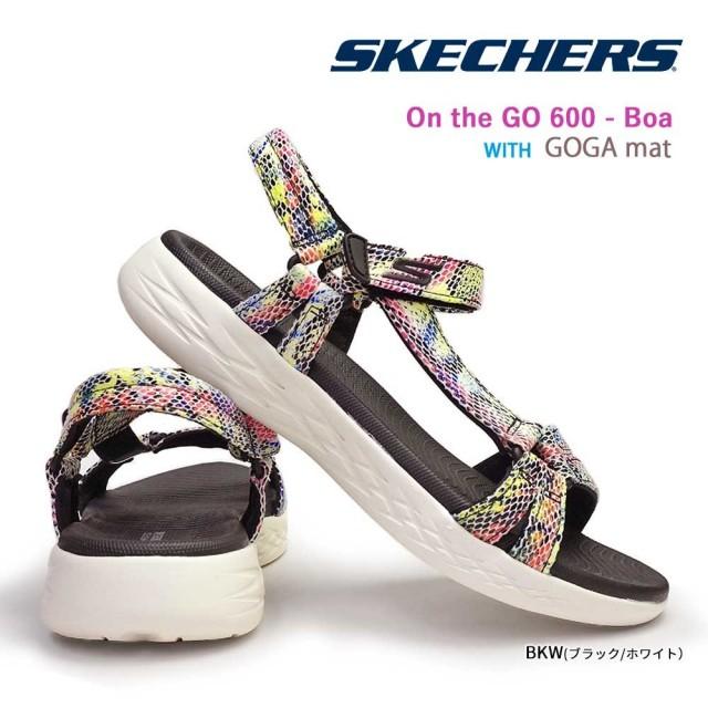 スケッチャーズ レディース サンダル 16320 オンザゴー600 ボア ストラップ 軽量 スポーツ リバース SKECHERS On the GO 600 - Boa
