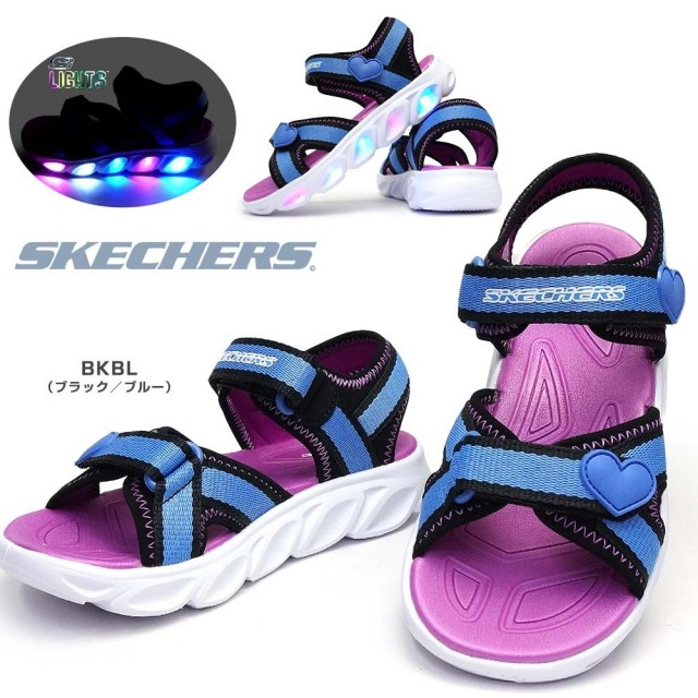 スケッチャーズ 光る靴 ガールズ サンダル 20215L エスライツ スポーツサンダル 子供靴 キッズ ジュニア SKECHERS Girls S LIGHTS HYPNO SPLASH/SPLASH ZOOMS
