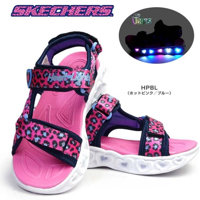 スケッチャーズ 光る靴 ガールズ サンダル 302090L エスライツ スポーツサンダル 子供靴 キッズ ジュニア SKECHERS Girls S LIGHTS HEART LIGHTS SANDALS SAVY CAT