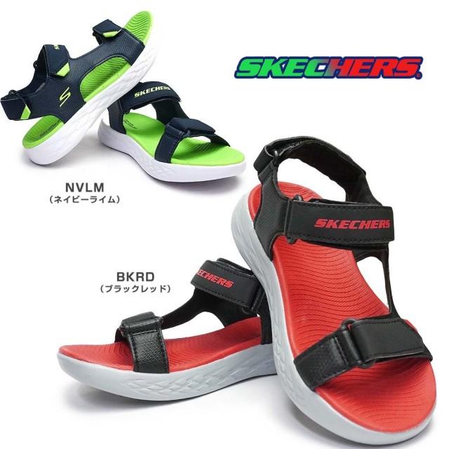 スケッチャーズ ボーイズ サンダル 400054L スポーツサンダル 子供靴 軽量 キッズ ジュニア SKECHERS Boys ON THE GO 600 VENTURE