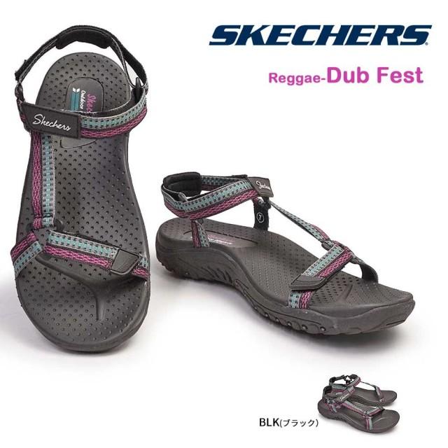 スケッチャーズ レディース サンダル 41125 Reggae- Dub Fest ストラップ スポーツ リバース SKECHERS Reggae - Dub Fest