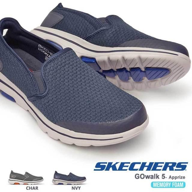 スケッチャーズ スニーカー メンズ 55510 スリップオン メッシュ GOwalk 5 - Apprize SKECHERS 軽量
