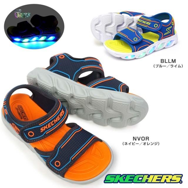 スケッチャーズ 光る靴 ボーイズ サンダル 90522L エスライツ スポーツサンダル 子供靴 キッズ ジュニア SKECHERS Boys S LIGHTS HYPNO-SPLASH