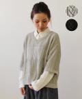コットン編み柄ニット