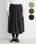 【nofl】綿麻バックサテンバルーンスカート