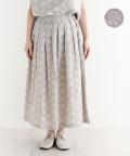 【nofl】リネン刺繍タックスカート