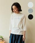 nachukara コットンプリント七分袖Tシャツ