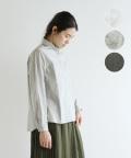 【YARRA】コットンラウンドカラーシャツ