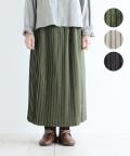 【YARRA】ロングプリーツスカート