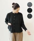 nachukara 綿ウールスタンドカラーシャツ