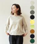 【NARU】ムラ糸リサイクル天竺ワイドプルオーバー