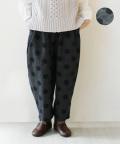 NARU ドット柄ジャガードパンツ