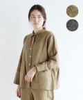 【mur-mur ntr】リネンバックギャザー切替シャツジャケット