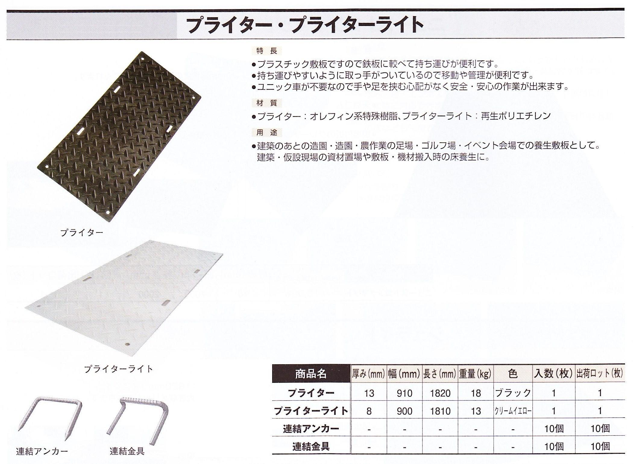 連結金具 (プライター・プライターライト用 10個/セット)