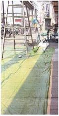 スベランシート 透明緑色 送料無料!(0.03mm厚×1800mm幅×100m巻 25本/セット)