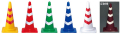 反射カラーコーン(赤/白・黄/白・緑/白・青/白・白/赤) 送料無料!(370mm×370mm×700mm 20個/セット)