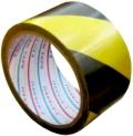 トラ模様粘着テープ TT06YB 送料無料!(50mm幅×25m巻 60個/セット)