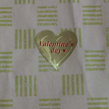 無料シール Valentine's Day