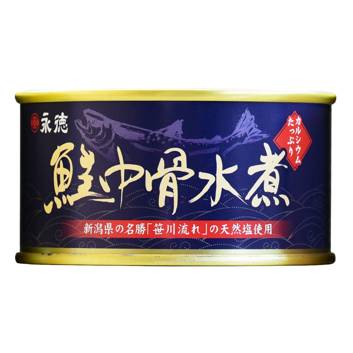 鮭中骨水煮 缶 180g