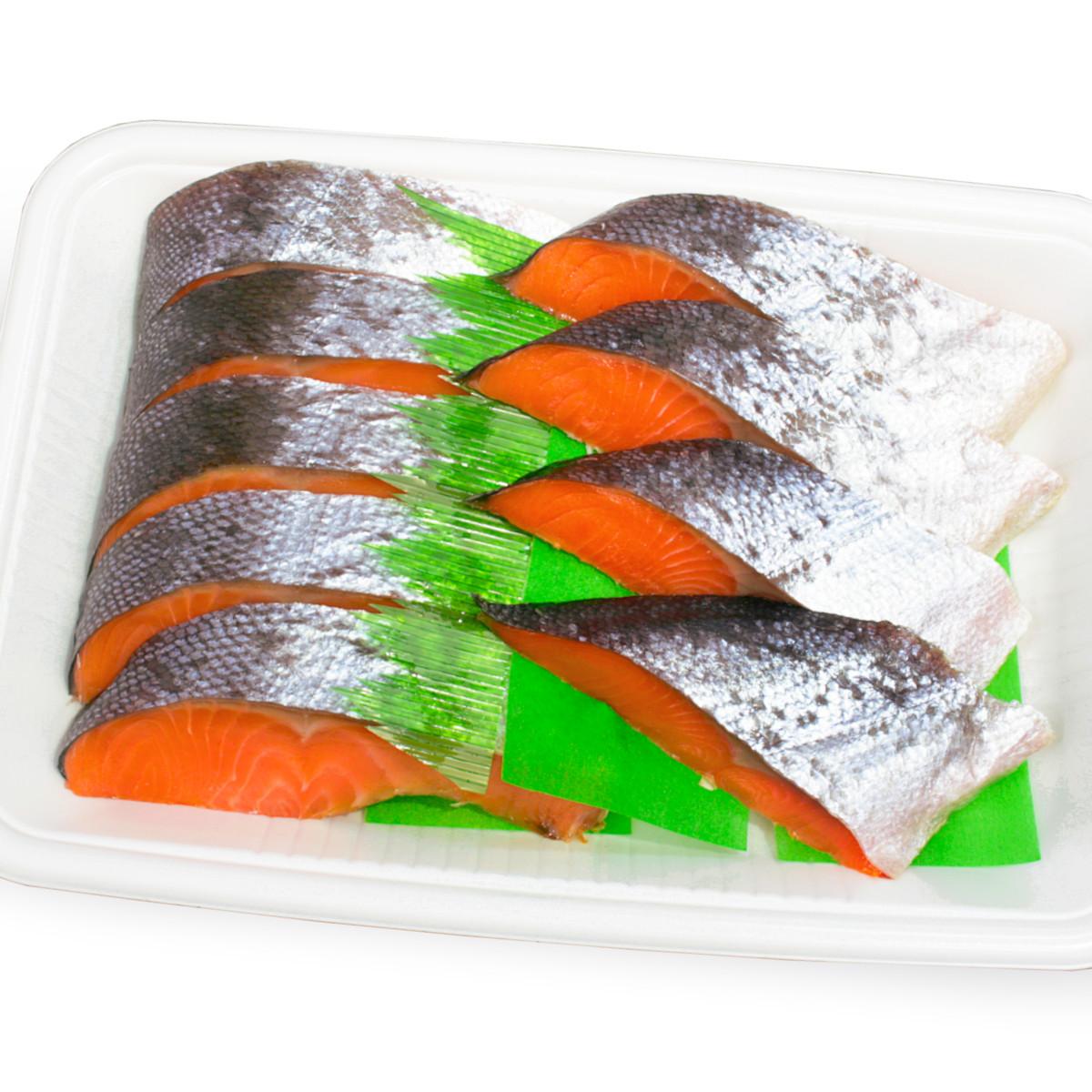 [ご自宅用] 銀鮭寒風干し半身の切身トレイ盛り